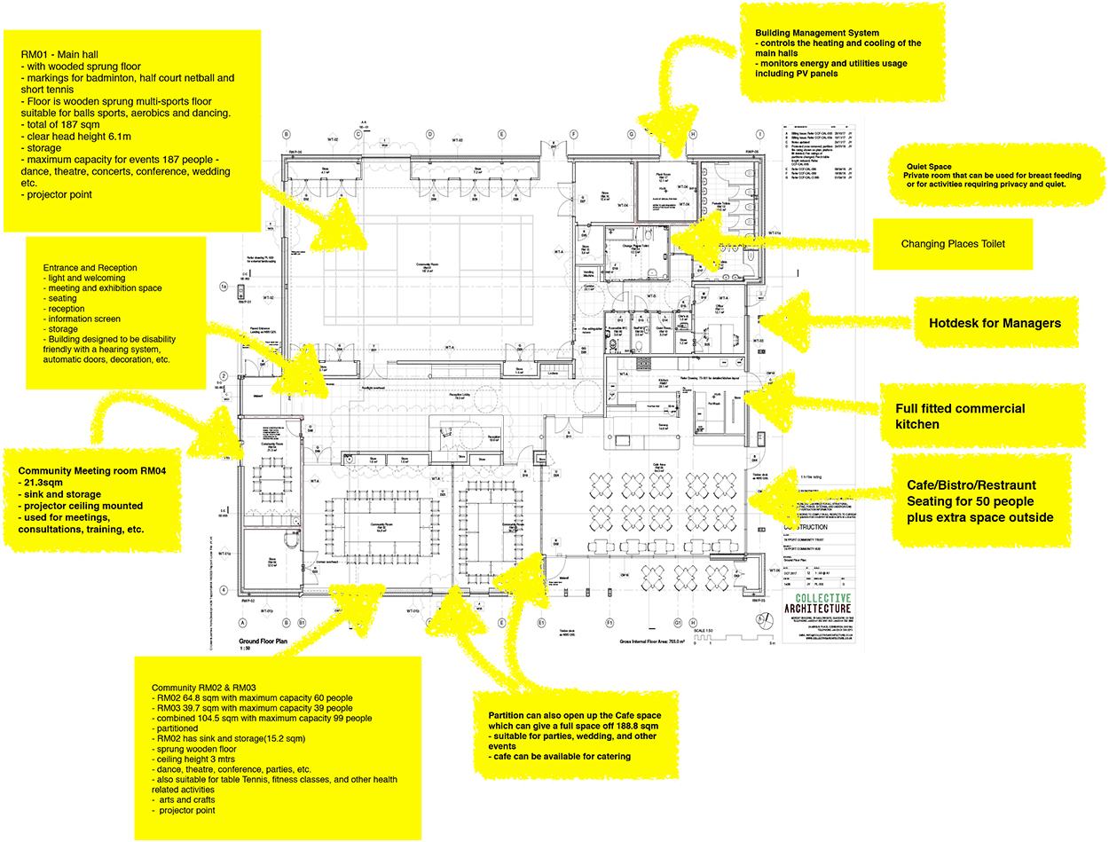 Tayport Community Centre-Plan layout