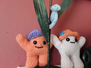 knitted puppets by Sheila Lancett McConachie